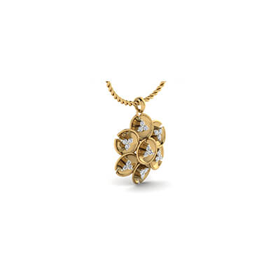 Big diamond pendant designs for men and women at 18K and 22k