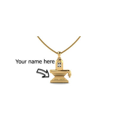 Custom made linga gold pendant custom made shiva linga pendant online in chennaimumbaidelhi and pune aloadofball Images