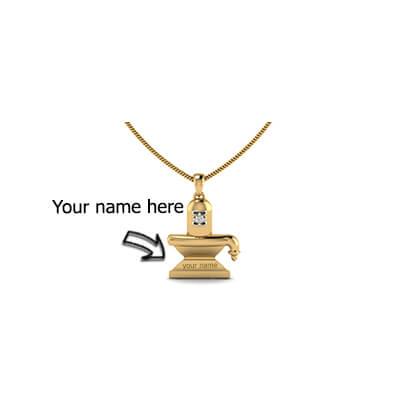Custom made Shiva Linga pendant online in chennai,mumbai,delhi and pune