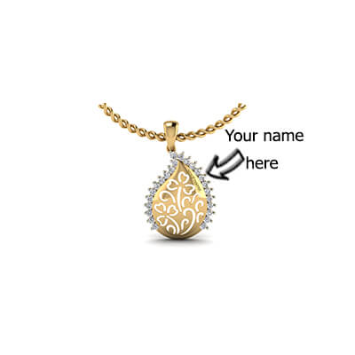 Customized pendant with name india for kids,babies, men and women in online. Free shipping across india