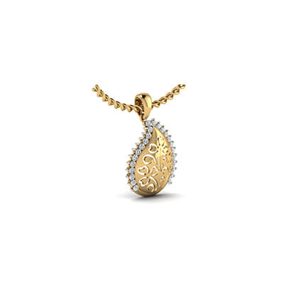 Customized flower mango gold pendant augrav personalized gold and diamond pendant designs in india for men and women in online mozeypictures Image collections