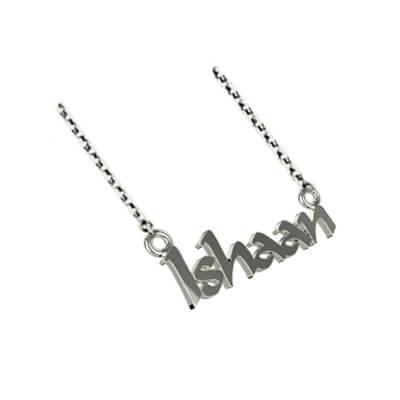 Personalized Sterling Silver Pendant with name for men and women online at augrav.com. Best gift for their birthday and wedding anniversary