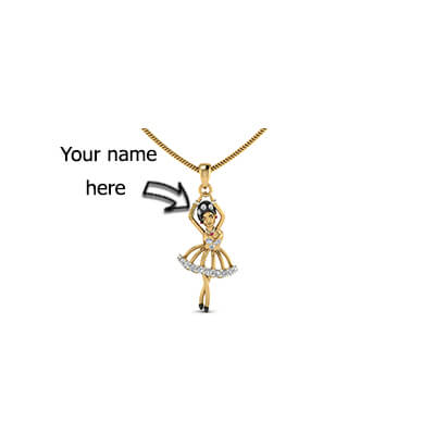 Cute baby doll diamond pendant augrav personalized diamond custom pendant with name for women in india and ladies and girls mozeypictures Image collections