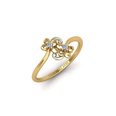 Designer Gold Name Ring AuGrav