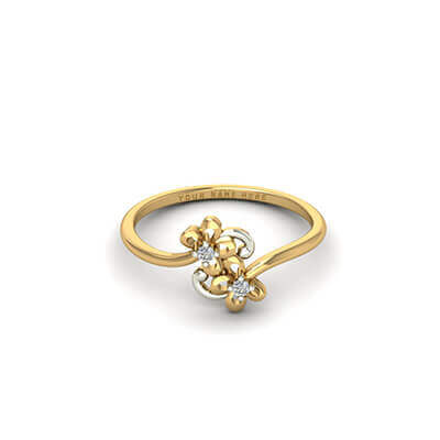 Designer Gold Name Ring