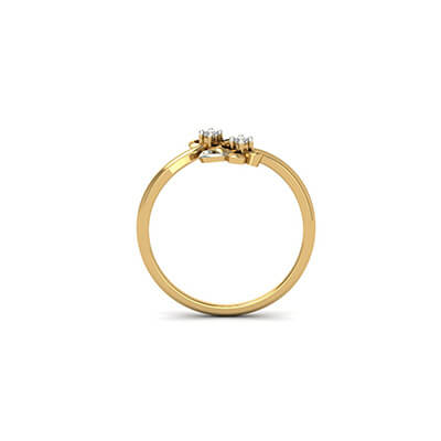 Customizable designer engagement ring online in yellow and white gold