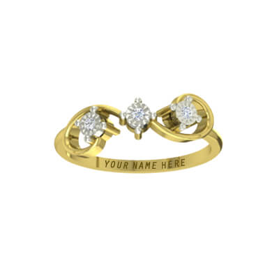 Diamond engagement ring with price for men and women in 22k and 18k yellow gold
