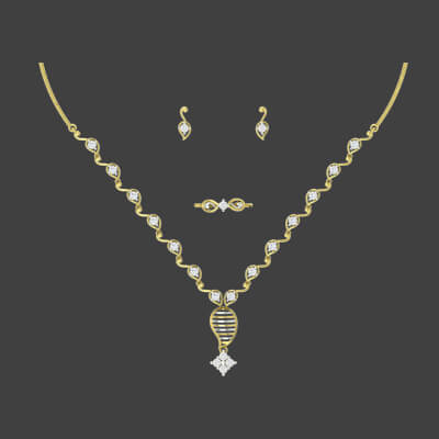 kerala necklace set designs in gold for indian wedding bridal women. Free shipping in india