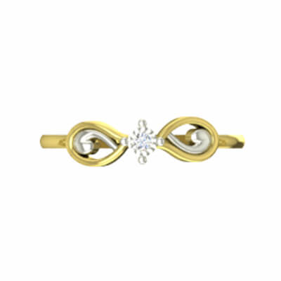 Ladies gold ring with name in india for engagement,wedding and anniversary. Free shipping across india.