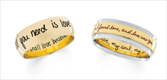 Engagement Vow Engraved ring