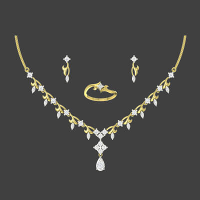 antique necklace sets designs in gold with diamond for indian bride at augrav.com at its best price and free shipping in delhi,mumbai,chennai and kolkata.
