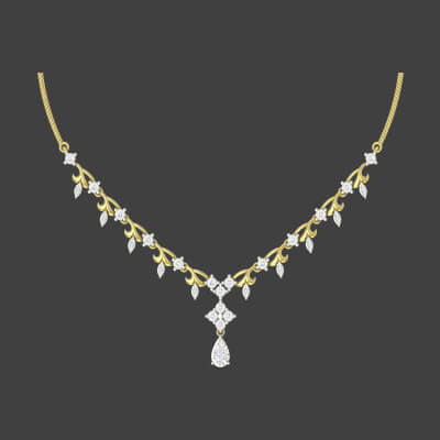 22k gold necklace earring sets with yelloe gold and diamond. Free shipping across india