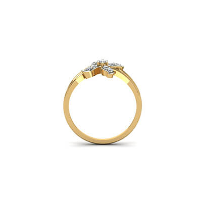 unique custom wedding ring for men in 18k and 22k with floral designs online