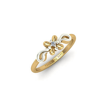 Custom designed diamond and gold ring for men online india. Unique custom name rings at best price