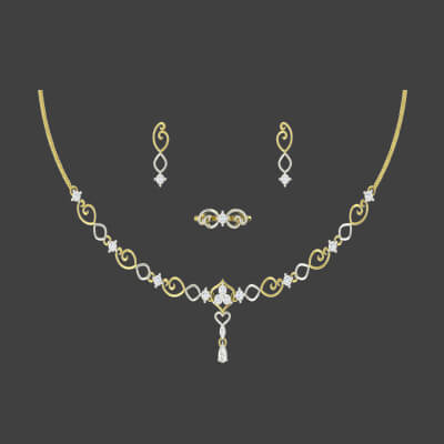 wedding gold necklace and earring sets in india for bride women. Free shipping in chennai,mumbai, and bangalore