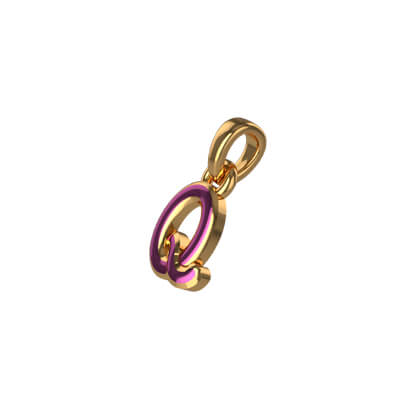 Custom made your initial pendant with letter Q for kids and girls online