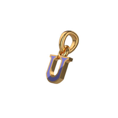 18K gold pendant with alphabet U at rs 4499 for men and women at augrav.com