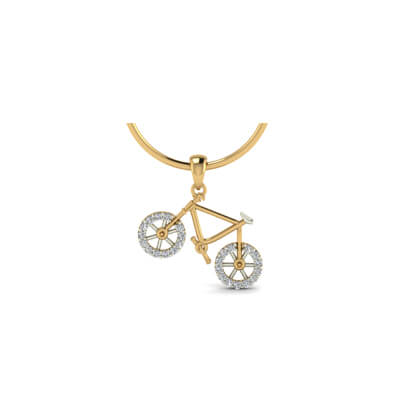 Gold cycle pendant with name augrav personalized platinum gold pendant designs for baby in india at best price in online mozeypictures Image collections