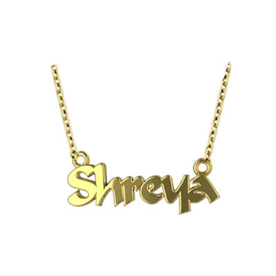 Gold pendant with your children's name in online india. Explore unique name pendant designs at best price.