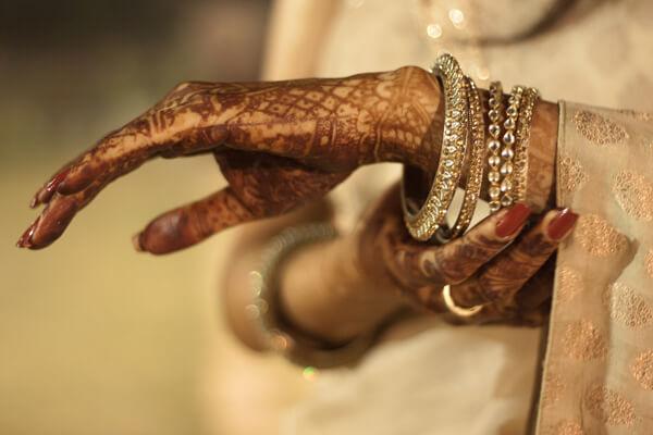 Gold and Diamond Bridal Bangles