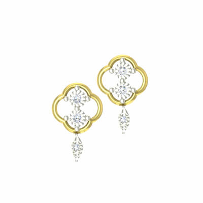 Small diamond stud earrings for women in india at its best price. Available in 11k and 14k
