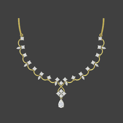 buy diamond necklace online india at best prices at augrav.com. Diamond and yellow gold