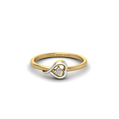 Heart shaped love diamond ring for engagement and wedding,anniversary