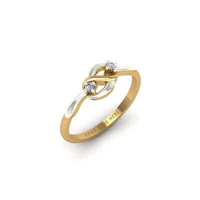 Infinity Diamond Name Ring