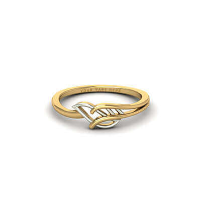 Custom made gold rings for men with name written on it for him and men