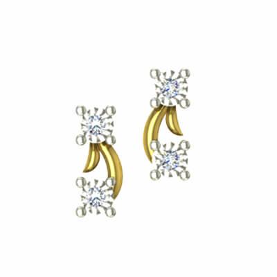 gold diamond earring for baby girl in india