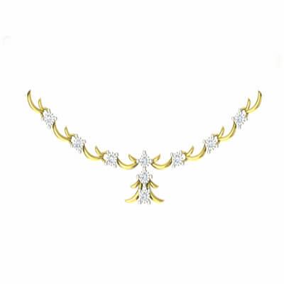 uncut diamond necklace for wedding