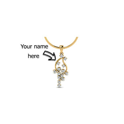 Engraved diamond pendant design for men,women and kids in online india at best price
