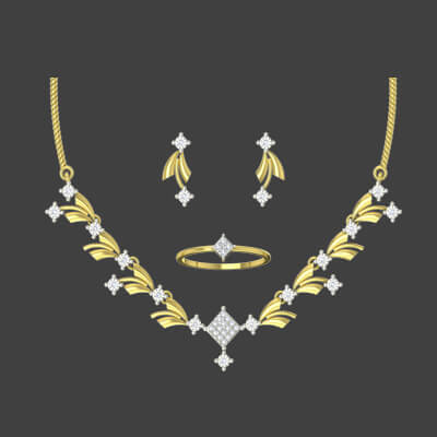 New modern gold necklace set designs for wedding and engagement