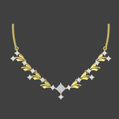 Uncut diamond necklace designs at best price at augrav.com. For weding and engagement