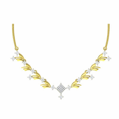 Diamond necklace designs for wedding women and girls at Rs.30000
