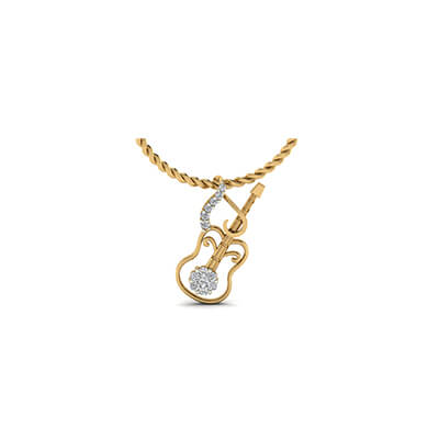 Gold pendant designs for male in guitar. Free shipping in delhi,mumbai,kolkata,pune and hyderabad