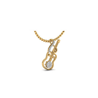 Musical guitar name pendant augrav personalized platinum custom made gold pendant guitar with 18k and 22k free shipping in chennaikolkata aloadofball Choice Image
