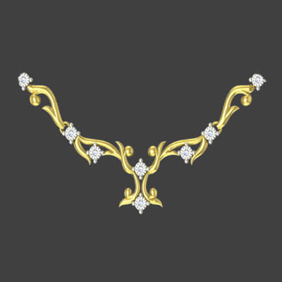 Modern simple gold necklace designs for her and wife at augrav.com at best price