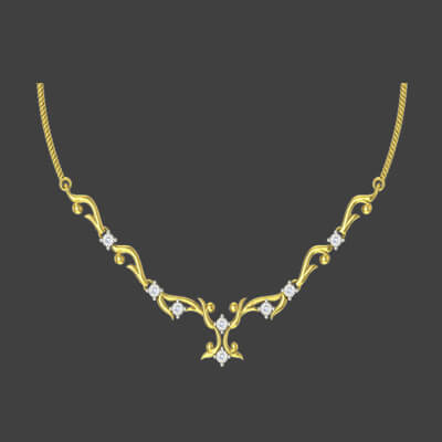 Diamond necklace designs for marriage in pure gold in 22k and 18k. Available in coimbatore, delhi and bangalore