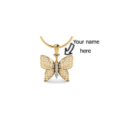 Gold Name pendant designs for kids,baby girl and new born baby in online at augra.com at best price