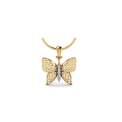 Personalized butterfly pendant gold pendant designs for ladies in online india free shipping in chennaimumbai aloadofball Choice Image