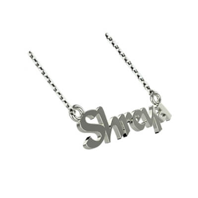 Customized silver pendant for women with name on it. Best gift to girlfriend,sister and wife