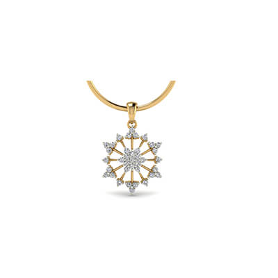Unique gold and diamond pendant design for men and women in online at best price