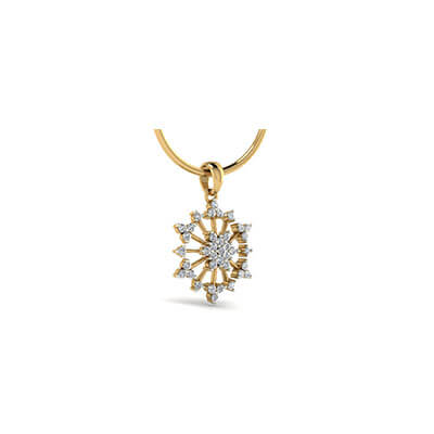 Designer gold pendant for women with pure diamond in yellow and white gold. Best price with unique design at augrav.com
