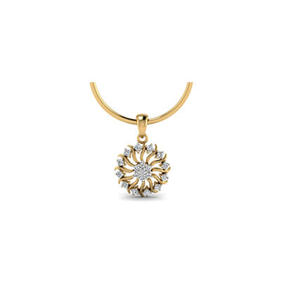gold pendant designs for baby with pure real diamond in online india