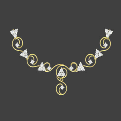 malabar gold necklace set designs with pure diamond for men and girls at augrav.com