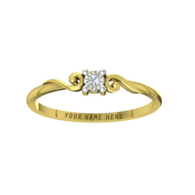 Diamond and gold name rings for men forhis wedding or engagement