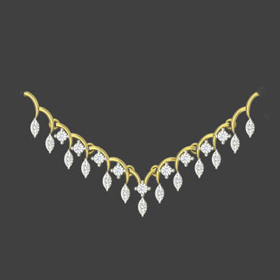 Real diamond necklace set designs for indian wedding and engagement bride
