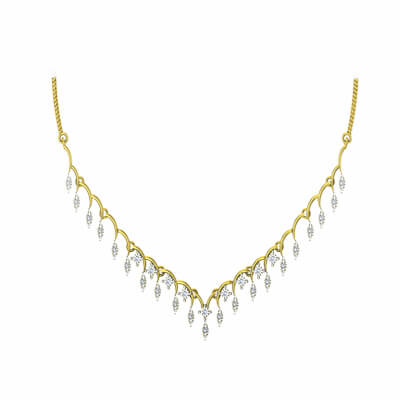 Indian gold necklace with design with pure white gold in 22k and 18k