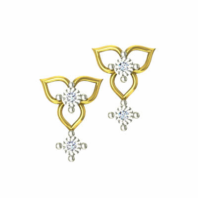 golden earring design for her. Unique collections and best designs at augrav.com